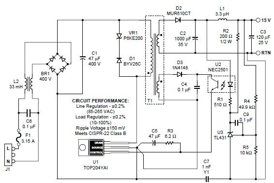 12V 1A Smps Circuit Diagram | Image Result For 15v 1a Smps Circuit Diagram Tech Pinterest