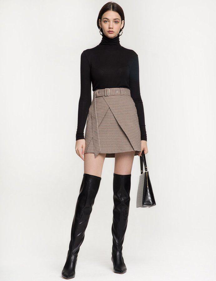 Morris High Waist Belted Skirt - Winter Clothing #affiliate #winter #cute