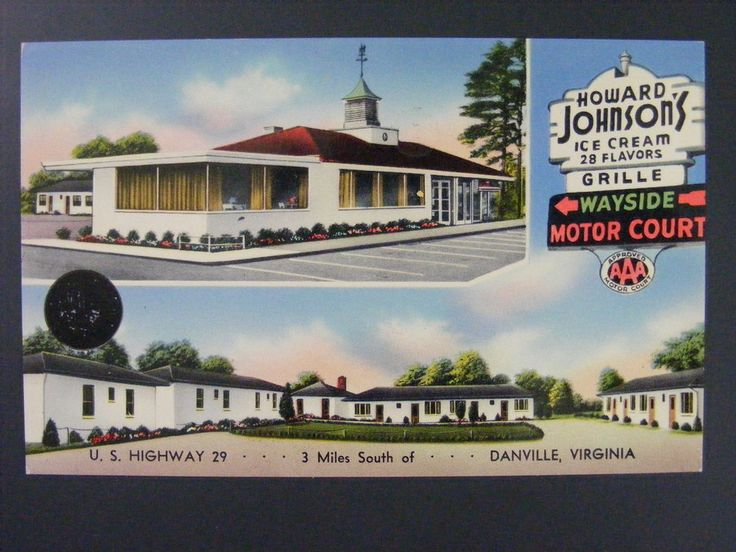Danville Virginia VA Howard Johnson's Motor Court Ice Cream Postcard 1950s Vtg | Collectibles, Postcards, US States, Cities & Towns | eBay!