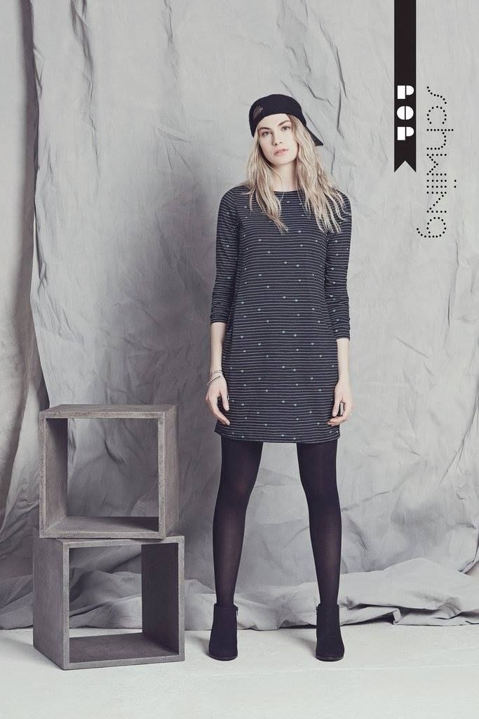 Simple printed dress by Schwiing. Fall-winter fashion looks. Shop the look at forevermore.com Canadian online store.