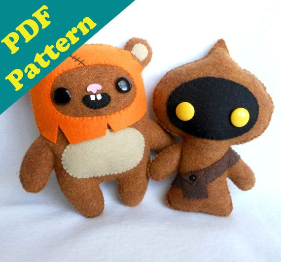 PDF PATTERN BUNDLE Star Wars Ewok & Jawa Plush by michellecoffee