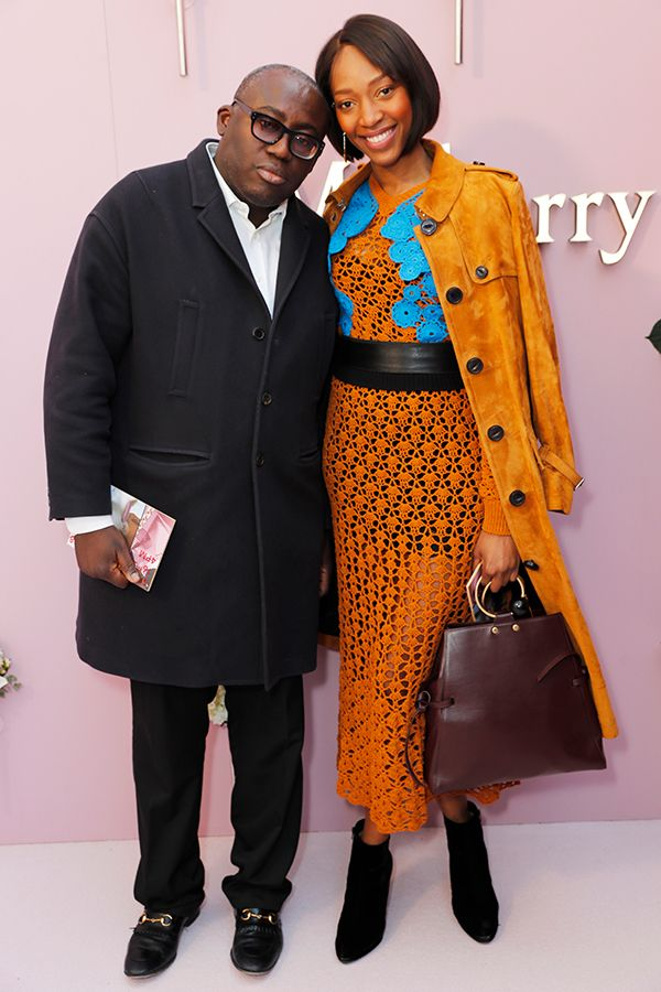 79b18224bf Edward Enninful and Vanessa Kingori at the Mulberry Beyond Heritage event.