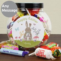 22 best easter images on pinterest easter gift personalised gifts happy easter gift personalised sweet jars love hearts gift present idea kids negle Choice Image