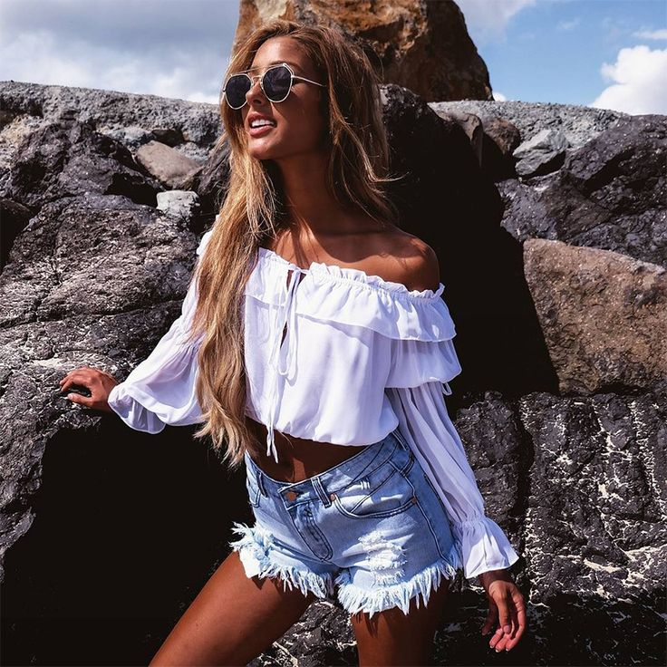 Fashion strapless shirt