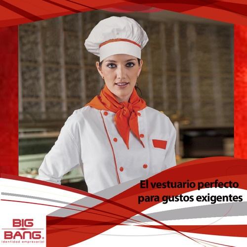 Tenemos el vestuario perfecto para los creadores del arte culinario. Te invitamos a que conozcas nuestra filipina para chef  #uniformesdecalidad #chef, #filipinachef, #uniformesparagourmet  #uniformechef,  www.bigbang.mx