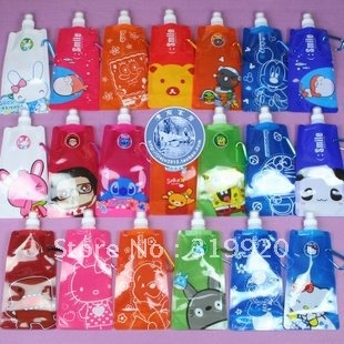 Free shipping 30pcs/lot Portable type water bottle/collapsible 480ml