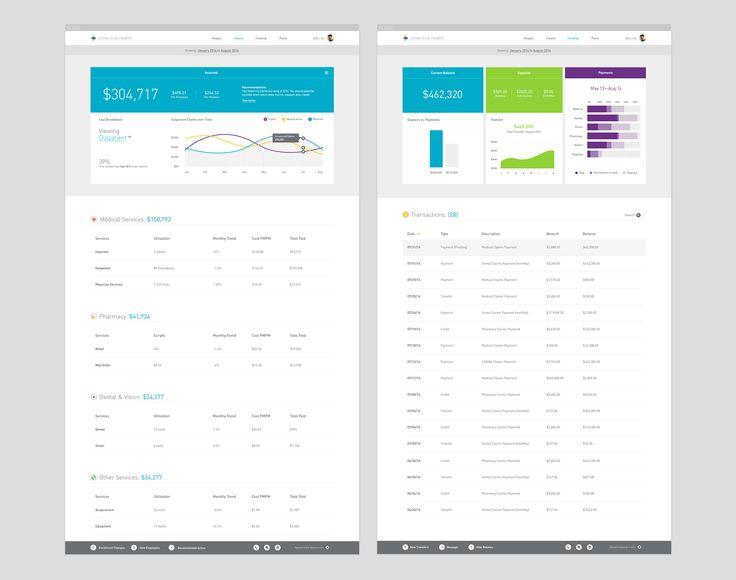 collective health app UX/UI healthcare branding