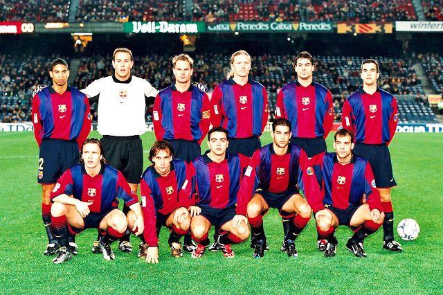 Equipos de fútbol: BARCELONA contra Gimnástica de Torrelavega 16/01/2001