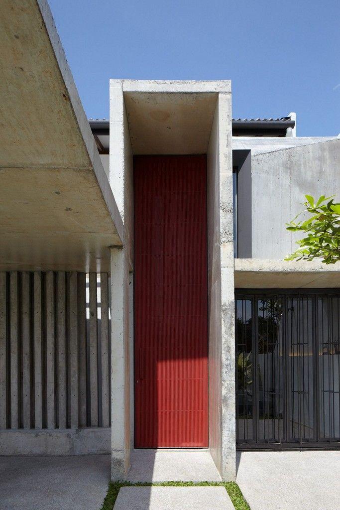 Single storey peranakan styled home - Interesting exterior design