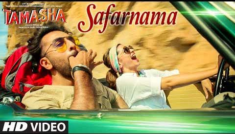 """Safarnama Lyrics from Bollywood Movie """"Tamasha"""" ,The romantic song is sung by Lucky Ali and music is composed by A.R. Rahman . The song's Lyrics written by Irshad Kamil. Tamasha is a Bollywood musical drama film"""