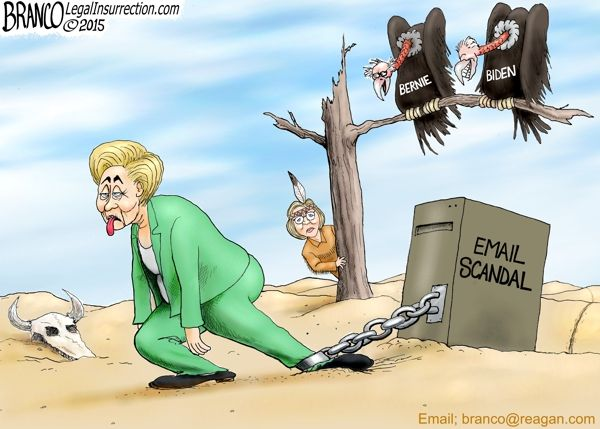 killary Polls Drop as other possible candidates lie in wait for her political demise. Cartoon by A.F.Branco ©2015 --that should be PRISON Shackles!!!--