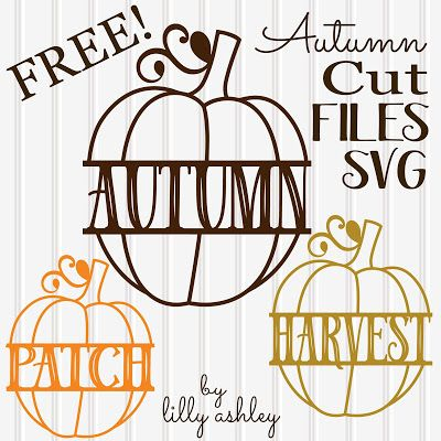 Make it Create by LillyAshley...Freebie Downloads: Freebie Split Pumpkin Cutting Files for Autumn