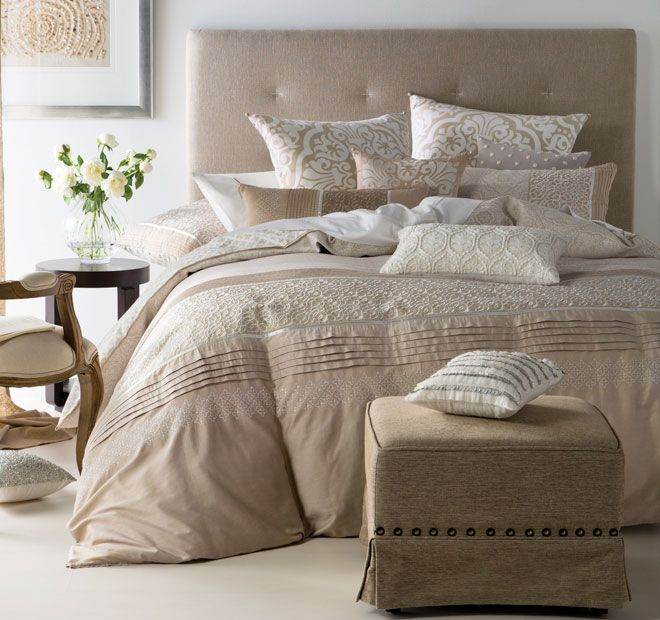 Linen House Gianna Quilt Cover Set Range Beige