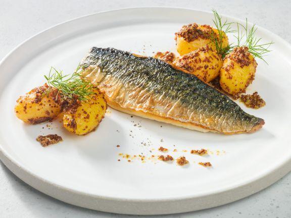 Makrelenfilet mit Dill-Senf-Kartoffeln ist ein Rezept mit frischen Zutaten aus der Kategorie Meerwasserfisch. Probieren Sie dieses und weitere Rezepte von EAT SMARTER!