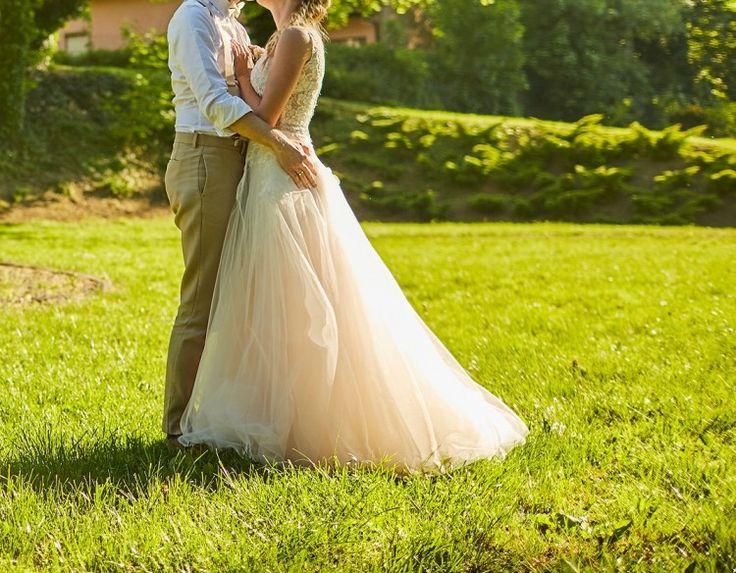 Suknie - Wyjątkowa suknia ślubna boho - 2 500,00zł