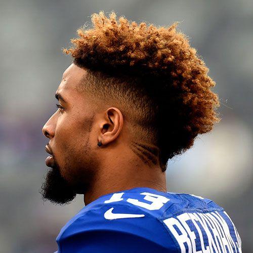 Afro Taper Fade Haircut For Black Men