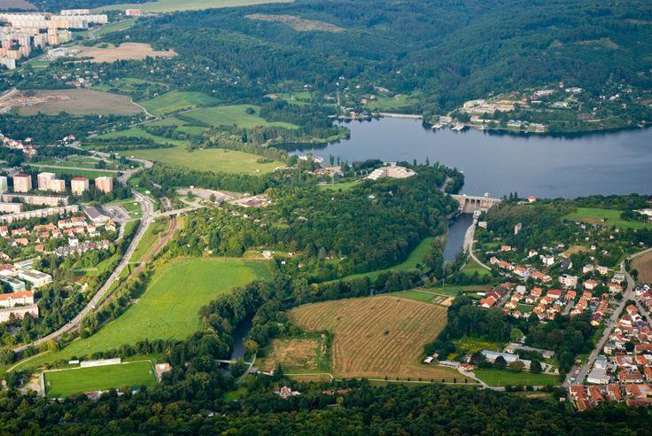 Brněnská přehrada z balónu