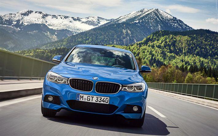 Télécharger fonds d'écran BMW Série 3 Gran Turismo, F34, en 2017, les voitures, la route, les voitures allemandes, BMW