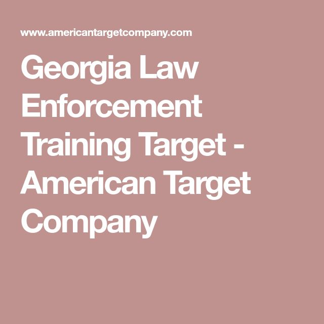 Georgia Law Enforcement Training Target - American Target Company
