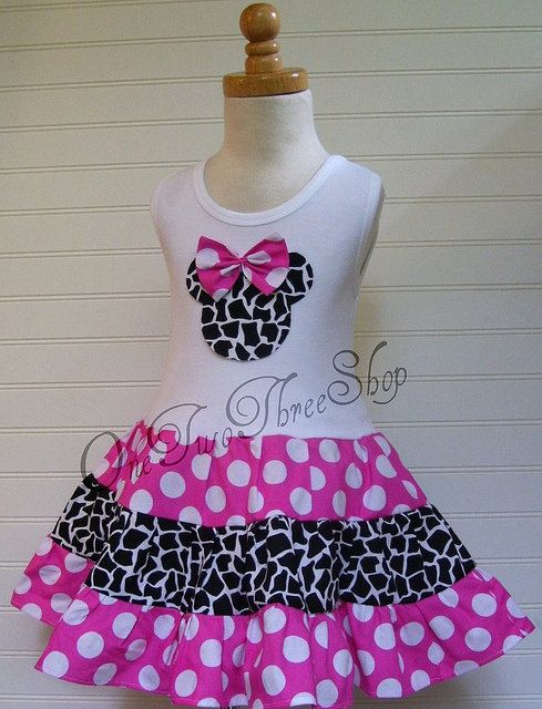 Custom Boutique Clothing Minnie Mouse Tiered Tank  Dress by amacim, $39.99