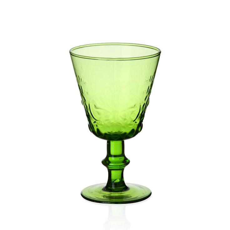 Bernardo Ayaklı Yeşil Kadeh #drinking #glass #wine #green #tabledesign