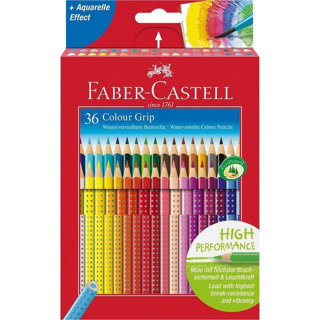 Colour Grip Buntstifte Wasservermalbar 36 Farben In 2020 Buntstifte Farbstifte Faber Castell