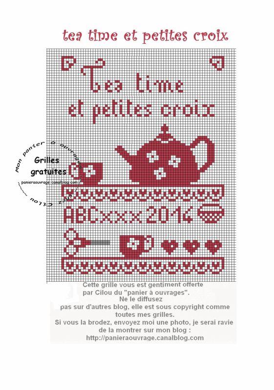 25 décembre tea time et petites croix grille gratuite