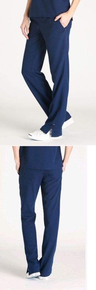 Bottoms 105422: New Women S Figs Medium Scrub Uniform Pants In Navy Blue For Medical And Dental -> BUY IT NOW ONLY: $34.99 on eBay!