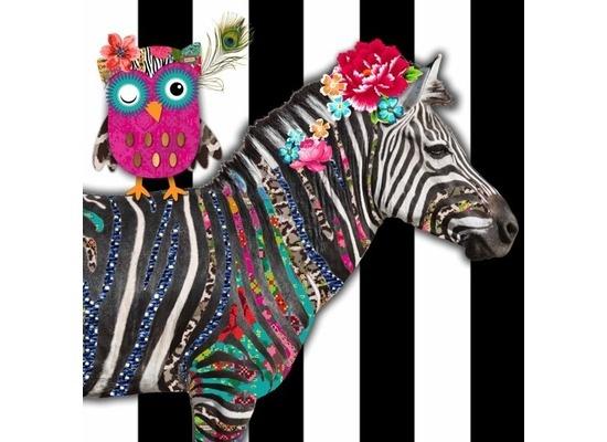 Duni Servietten - Motiv Zebra aus der Kollektion Melli Mello