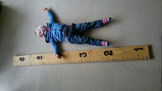 Oh I want this for the nursery  https://www.etsy.com/uk/listing/281403616/giant-wooden-ruler-with-an-oak-finish
