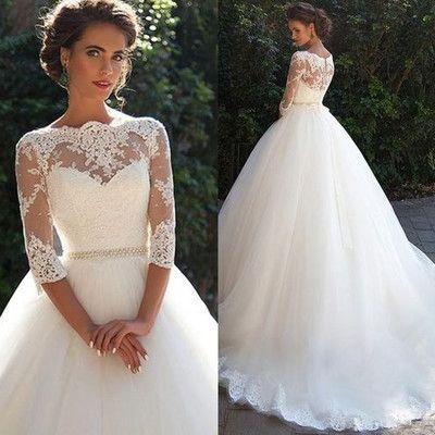 High Quality wedding dress,A-Line Wedding Dress,O-neck wedding…