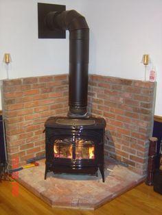 Wood burner on Pinterest | Corner Wood Stove, Wood Stoves and Wood ...