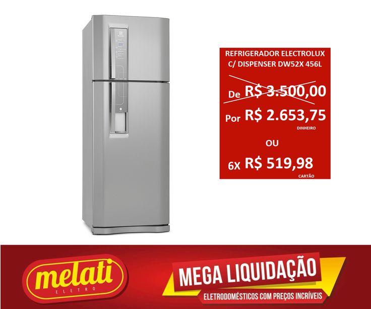SALDÃO REFRIGERADOR ELECTROLUX INOX COM DISPENSER DE AGUA DW52X 456 LITROS ========================================== CLASSIFICAÇÃO DO PRODUTO SALDO => https://www.melatieletro.com.br/pagina/nossos-produtos.html  ==========================================  📌 ❶ A͟͟N͟͟O͟͟ D͟͟E͟͟ G͟͟A͟͟R͟͟A͟͟NT͟͟I͟͟A͟͟ CONTRA DEFEITO FUNCIONAL  ==========================================  🚛 F͟͟R͟͟E͟͟T͟͟E͟͟ G͟͟R͟͟A͟͟T͟͟I͟͟S͟͟ consulte as regras do frete grátis…