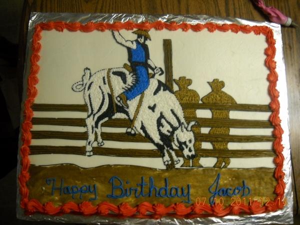 bull rider cake