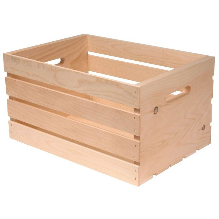 18 in x 12.5 in. x 9.5 in. Wood Crate-94565 at The Home Depot  for crate coffee table / bookshelf