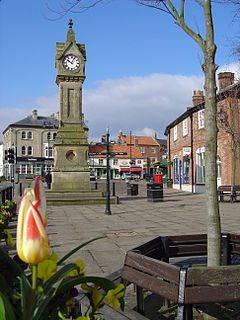 This is the clock tower in the center of Thirsk. Thirsk is a town in Yorkshire where James Herriot worked and wrote.