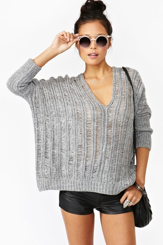 Suéter tejido & shorts.: