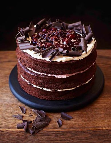 Gluten- Free Black Forest Cake from Primrose Bakery Everyday. It has a light, moist texture, which compliments to chocolate and cherry flavours nicely.