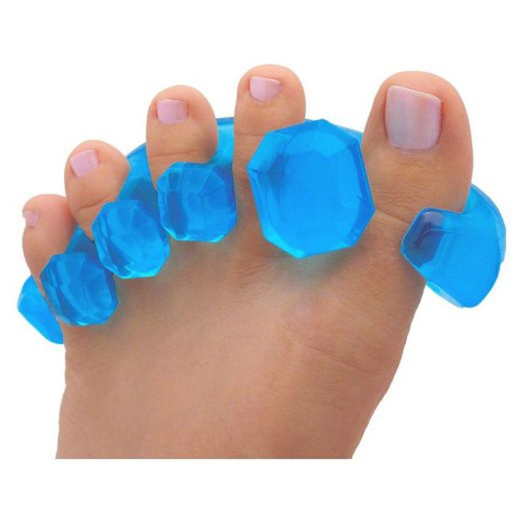 1 Pair of Gel Toe Stretcher for Yoga Pain Relief. Fights Bunions, Hammer Toes and More.
