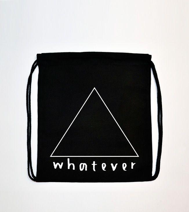 Whatever Rucksack  #totebags #backpack #rucksack #cotton #bag #black #screenprinted #whatever #triangle #handmade #serigrafia #mochila #zaino