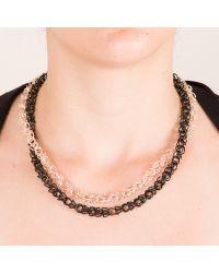 Sarmal Zincir Kolye   #gold #black #altin #siyah #kolye #necklace #chic #fashion #style #stil #moda #modavapuru