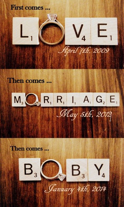 this might be my favorite idea ever. looks just like a wedding announcement I made!! must remember this one
