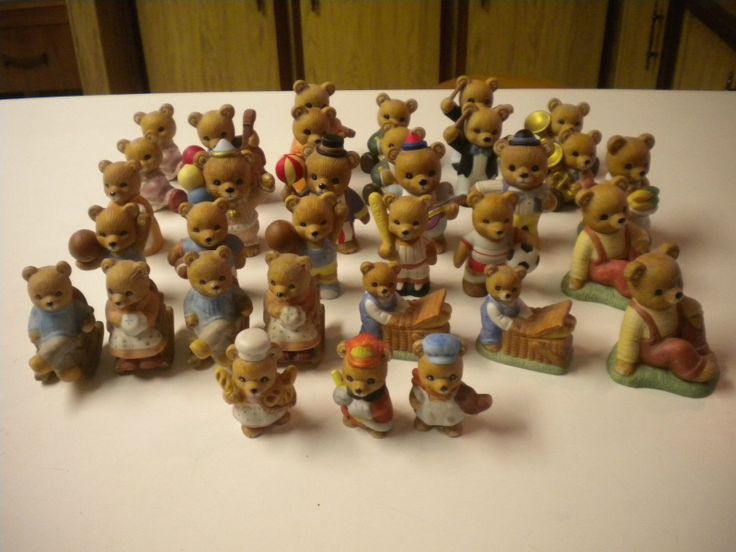 33 homco home interiors bear figurine lot some sets plus Eba home interior figurines