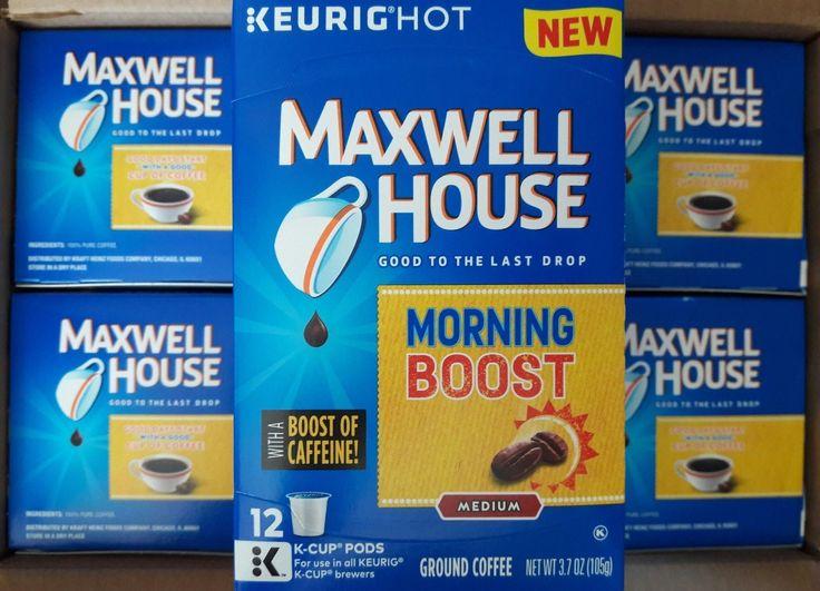Keurig  K-cups-Maxwell House Morning Boost Blend Medium Coffee-6 Boxes