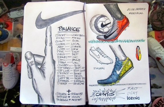 Nike CEO's Mark Parker notebook doodle: Notebook Doodles, Parker Notebook, Nike Ceo S, Soccer, Sport Sketches