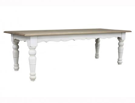 Provence Dining Table Scalloped . A Block and Chisel Product.