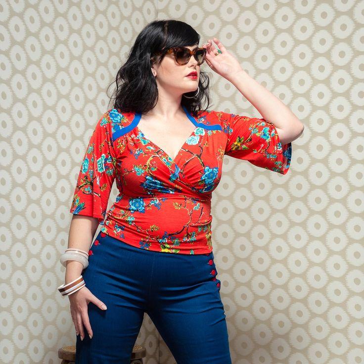 Lauren Slip Over Top in Birdlife | Buy Now http://sprinkleemporium.bigcartel.com/product/lauren-slipover-top