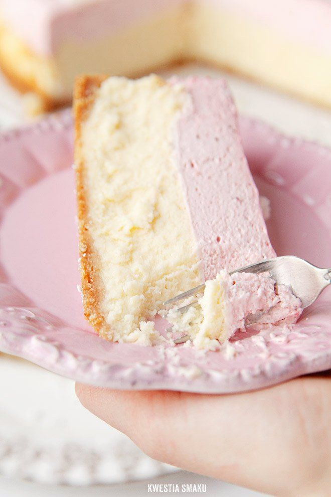 spring strawberry mousse cheesecake