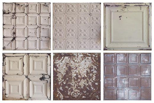Tin ceiling tiles.
