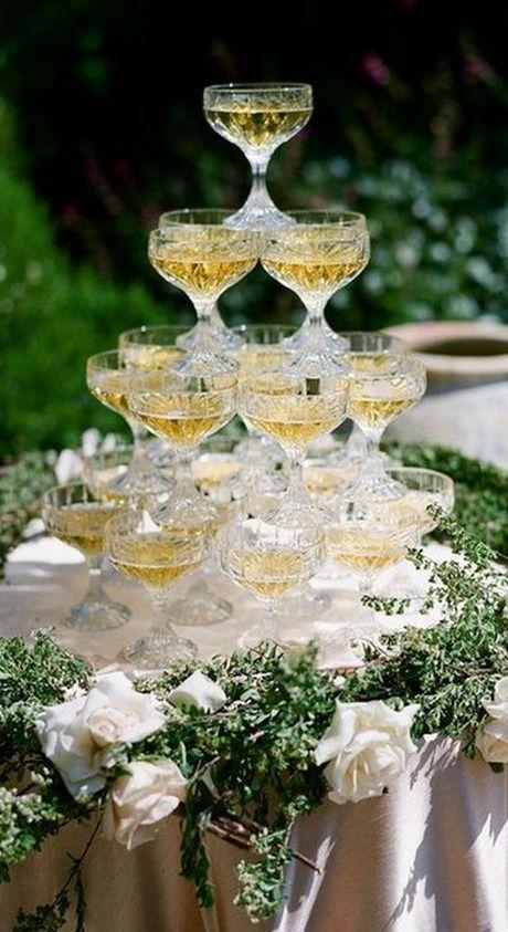 ༺✿* Wedding Deluxe Décor *✿༻ *Elegant Champagne Tower* *༺✿* LadyLuxury *✿༻